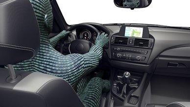 Artistic representation of an autonomous vehicle